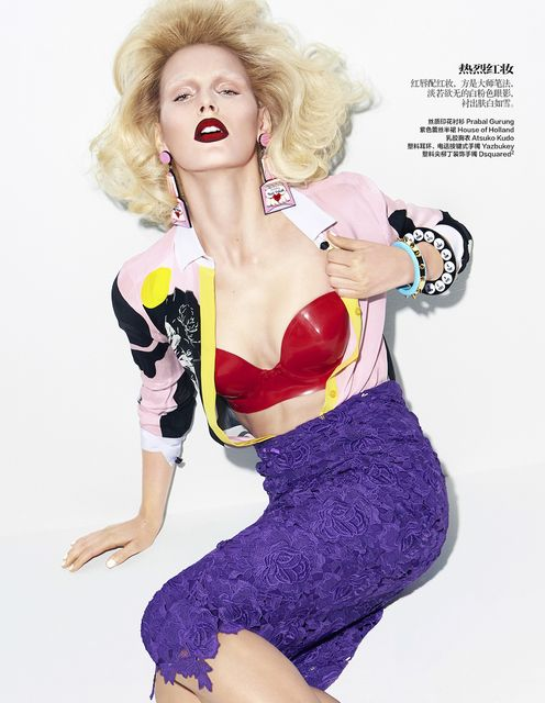 Madison Headrick by Kai Z Feng for Harper's Bazaar China April 2014 - Red Crush
